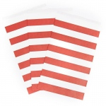 Creative Converting Classic Red Striped Paper Treat Bags (15) Red/White
