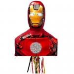 Iron Man 3D Pull-String Pinata: Multi-colored, Birthday