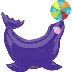 Circus Seal Jumbo Foil Balloon: Birthday