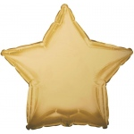 CTI Industries Corporation Antique Gold Star Foil Balloon Gold