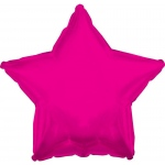 Hot Pink Star Foil Balloon: Pink, Birthday