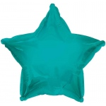 CTI Industries Corporation Bermuda Blue (Turquoise) Star Foil Balloon Blue