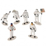 US Toy Astronaut Figures (12) White
