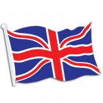 British Flag Cutout: Multi-colored, Birthday