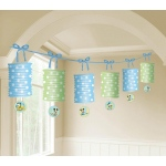 Amscan Disney Mickey 1st Birthday Paper Lantern Garland Blue/Green