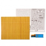 Birthday Express Bamboo Activity Placemat Kit for 4