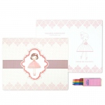 Birthday Express Ballerina Tutu Activity Placemat Kit for 4