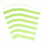 Creative Converting Fresh Lime Striped Paper Bags (15) Lime
