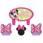 Amscan Disney Minnie Mouse Bowtique Birthday Candle Set
