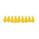 Amscan Yellow Paper Tassel Garland Yellow