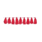 Amscan Red Paper Tassel Garland Red