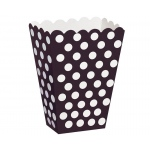 Black Dot Treat Boxes: Black, Birthday