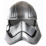 Star Wars Episode VII - Captain Phasma Half Helmet For Women - One-Size: Silver, One-Size, Everyday, Female, Adult