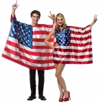 BuySeasons USA Flags Couples Costume For Adults