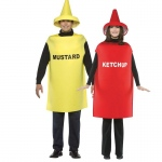 BuySeasons Adult Ketchup & Mustard Couples Costume One-Size
