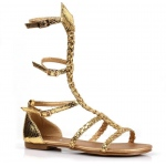 Kids Gladiator Sandal - Medium (13/1): Gold, Medium, Everyday, Female, Child