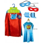 Superhero Boy Blue Cape Kit: Red/Blue, Birthday