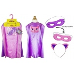 Superhero Girl Cat Cape Kit: Pink/Purple, Birthday
