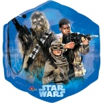 Star Wars VII Shape Jumbo Foil Balloon: Multi-colored, Birthday