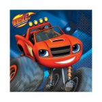 Blaze and the Monster Machines Beverage Napkins: Multi-colored, Birthday
