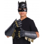 Batman v Superman: Dawn of Justice - Batman Gauntlets For Kids-One-Size: Black, One-Size, Everyday, Male, Child