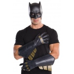 Batman v Superman: Dawn of Justice - Adult Batman Gauntlets - One-Size: Black, One-Size, Everyday, Male, Adult