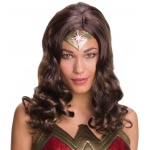 Batman v Superman: Dawn of Justice - Wonder Woman Wig For Women - One-Size: Brown, One-Size, Everyday, Female, Adult