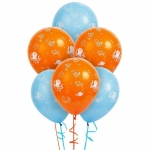Sea Creatures Latex Balloons: Multi-colored, Birthday