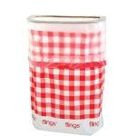 Amscan Gingham Flings Pop Up Trash Bin Red/White