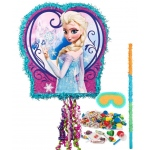 Disney Frozen Pull String Pinata Kit: Multi-colored, Birthday