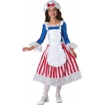 Betsy Ross Child Costume - 10: Red/White/Blue, 10, Everyday, Female, Child