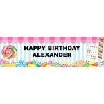 Candy Shoppe Birthday Banner: Multi-colored, Birthday