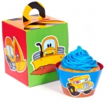 Birthday Express Construction Pals Cupcake Wrapper & Box Kit