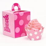 Birthday Express Everything One Girl Cupcake Wrapper & Box Kit
