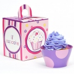 Birthday Express Girl's Lil' Cupcake 1st Birthday Cupcake Wrapper & Box Kit