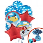 Birthday Express Airplane Adventure Balloon Bouquet