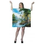 Bob Ross: Painting Tree Tunic Dress: Standard, Everyday, Adult