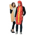 Hot Dog & Bun Couples Costume: Standard, Everyday, Adult