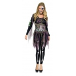 3D Skeleton Adult Costume S/M: Small, Everyday, Adult