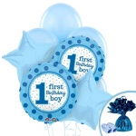 Birthday Express 1st Birthday Boy Sweet Stripes Balloon Bouquet
