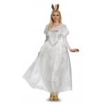 Alice Through the Looking Glass White Queen Deluxe Adult Costume - Medium: White, Medium, Everyday, Female, Adult