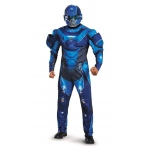 Disguise Halo Blue Spartan Muscle Teen Costume Medium