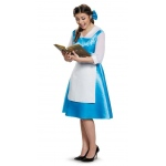 Beauty and the Beast Belle Blue Dress Adult Costume - Medium