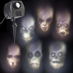 Outdoor Animated Skulls Projection Lightshow: Everyday