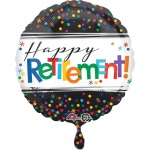Officially Retired Foil Balloon: Multi-colored, Retirement