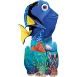 Finding Dory Airwalker Foil Balloon: Blue, Birthday