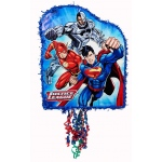 Justice League Pull-String Pinata: Multi-colored, Birthday