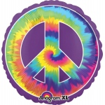 Feeling Groovy Peace Jumbo Foil Balloon: Multi-colored, Birthday