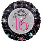 Sweet 16 Sparkle Prismatic Foil Balloon: Multi-colored, Sweet 16