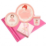 Ballerina Tutu Party Pack: Multi-colored, Birthday